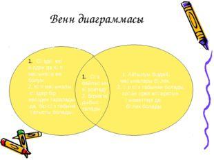 Венн диаграммасы 1. Айтылуы бірдей, мағыналары бөлек. 2. Әр сөз табынан болад