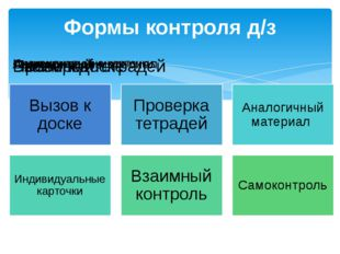 Формы контроля д/з