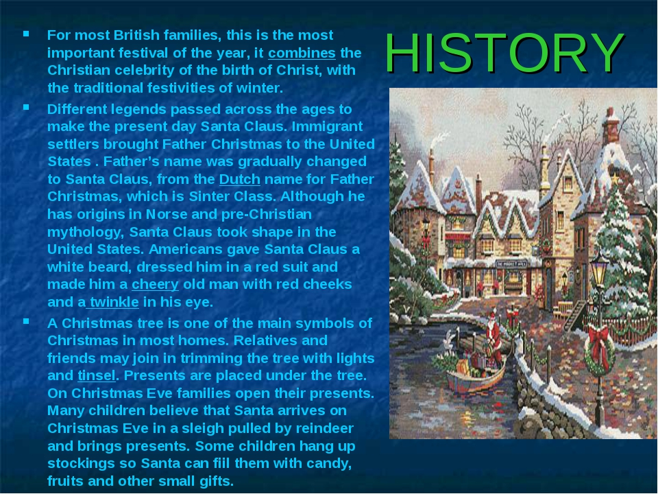 HISTORY For most British families, this is the most important festival of the...