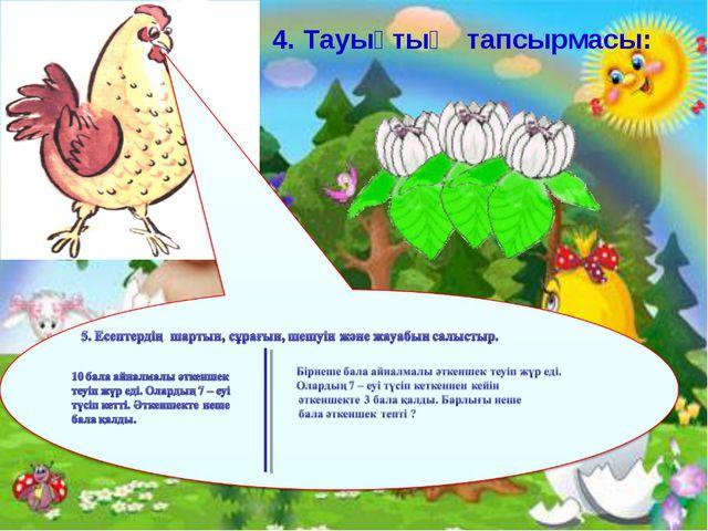 4. Тауықтың тапсырмасы: Ашық сабақтар