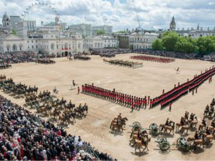 The Trooping of the Colour. The Queen is the only person in Britain with two