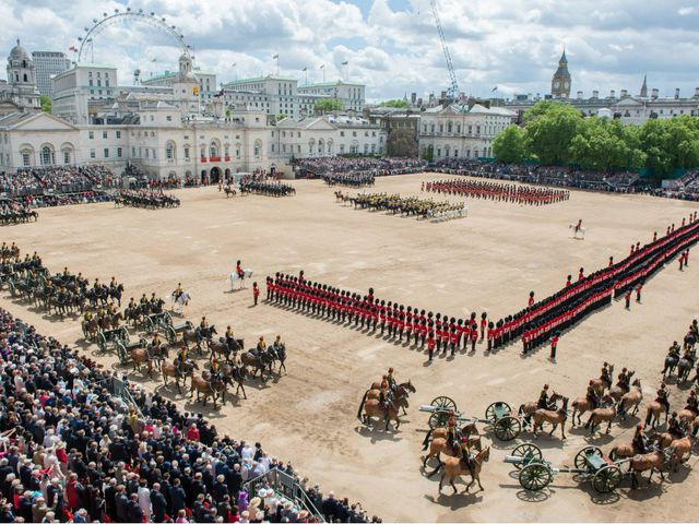 The Trooping of the Colour. The Queen is the only person in Britain with two...