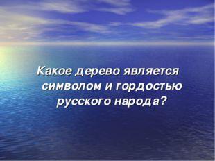 Какое дерево является символом и гордостью русского народа?
