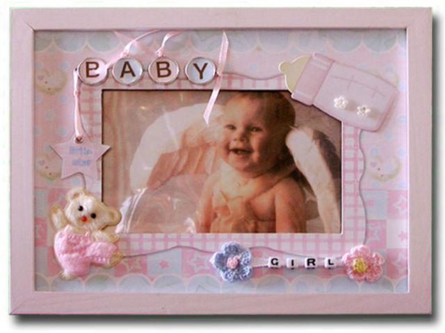 Рамка для фото новорожденного своими руками
