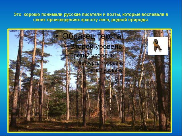 Это хорошо понимали русские писатели и поэты, которые воспевали в своих произ...