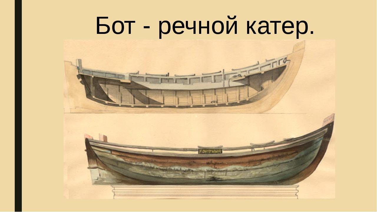 Бот - речной катер.