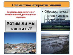Биосфера загрязняется от хозяйственной деятельности человека Хотим ли мы так