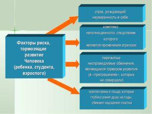 Факторы риска, тормозящие развитие Человека (ребенка, студента, взрослого) ст
