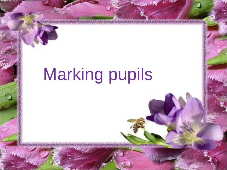 Marking pupils