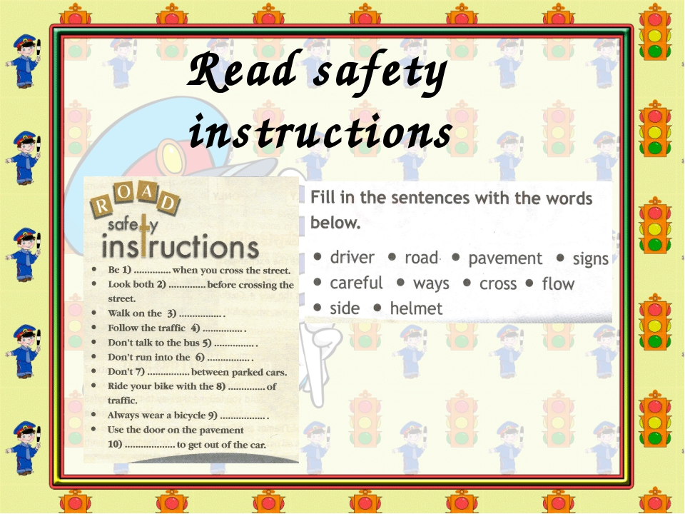 Read safety instructions
