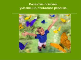 Развитие психики умственно-отсталого ребенка.