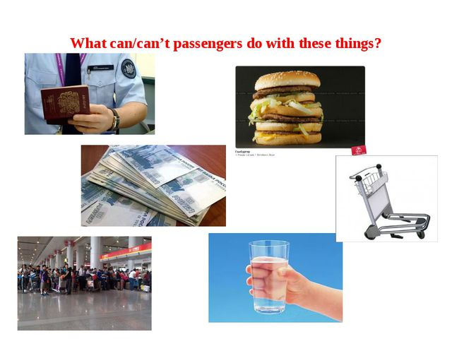 What can/can't passengers do with these things?