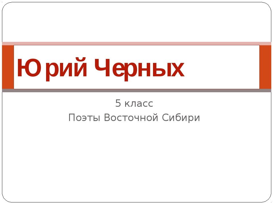 5 класс Поэты Восточной Сибири Юрий Черных
