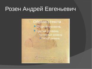 Розен Андрей Евгеньевич