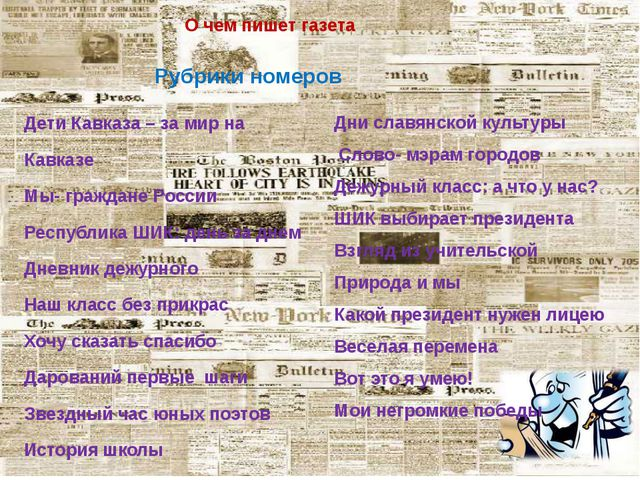 О чем пишет газета Рубрики номеров Дети Кавказа – за мир на Кавказе Мы- гражд...