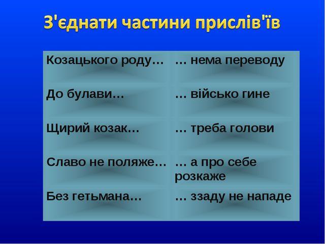 Козацького роду…… нема переводу До булави…… військо гине Щирий козак…… тре...