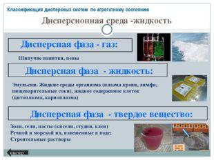 Классификация дисперсных систем (в зависимости от размеров частиц) и растворо