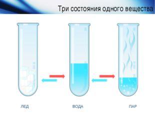 Три состояния одного вещества www.themegallery.com Company Logo ЛЕД ВОДА ПАР