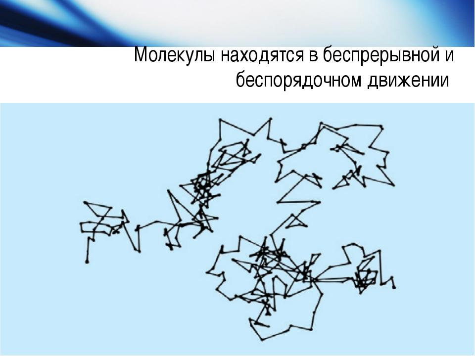 Молекулы находятся в беспрерывной и беспорядочном движении www.themegallery.c...