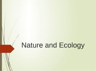 Nature and Ecology