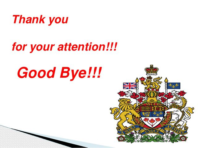 Good Bye!!! Thank you for your attention!!!