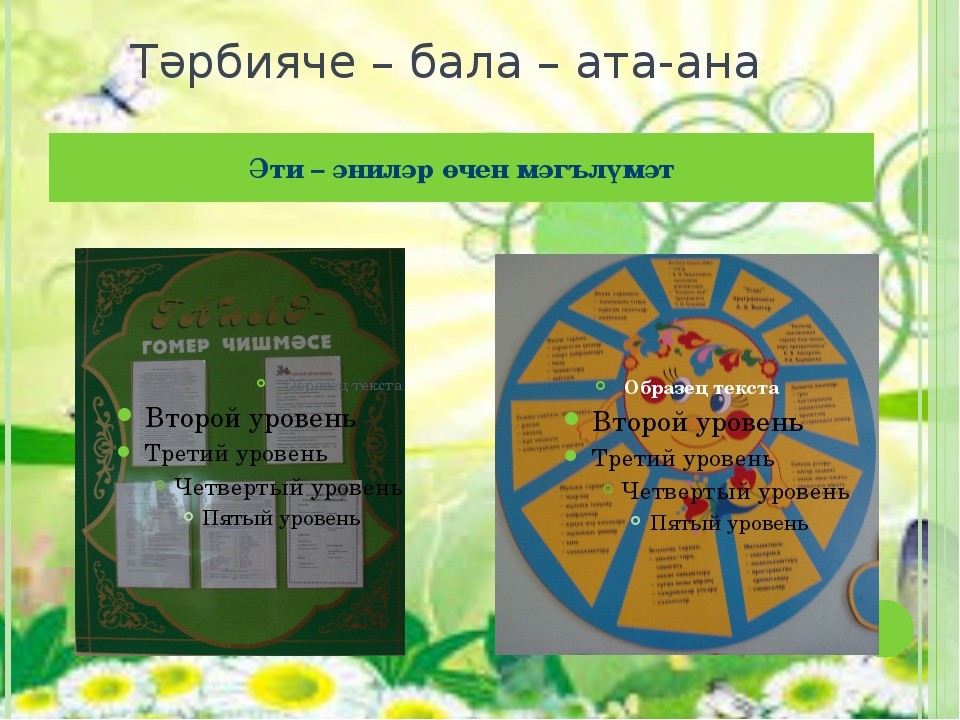 Тәрбияче – бала – ата-ана Әти – әниләр өчен мәгълүмәт