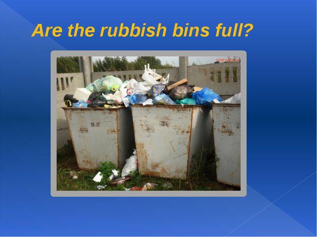 Are the rubbish bins full?