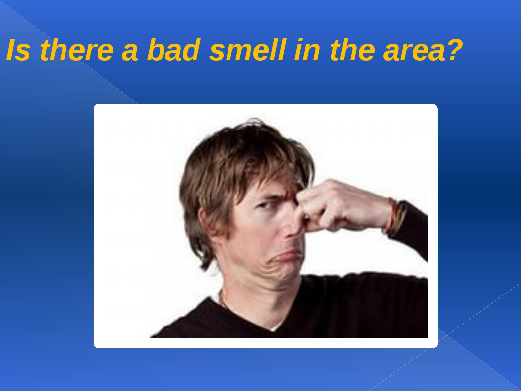 Is there a bad smell in the area?