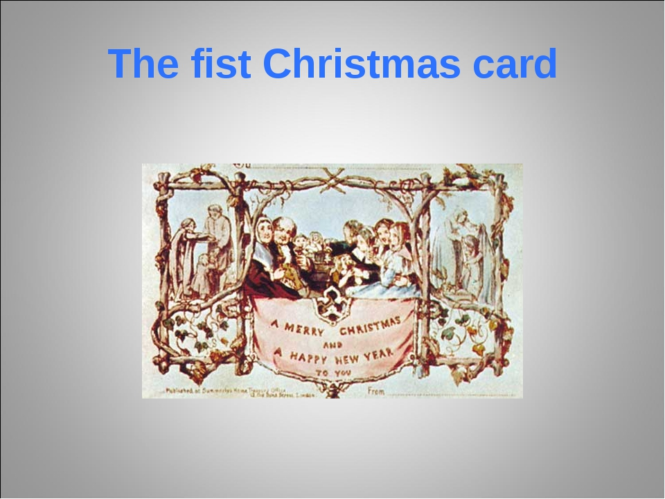 The fist Christmas card