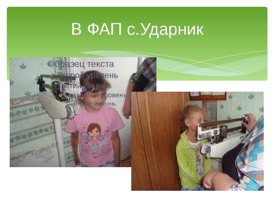 В ФАП с.Ударник