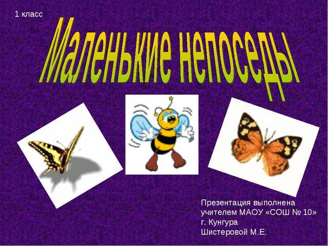 Презентация выполнена учителем МАОУ «СОШ № 10» г. Кунгура Шистеровой М.Е. 1 к...