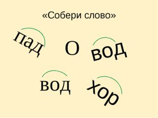 «Собери слово» вод хор пад вод О