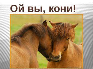 Ой вы, кони!