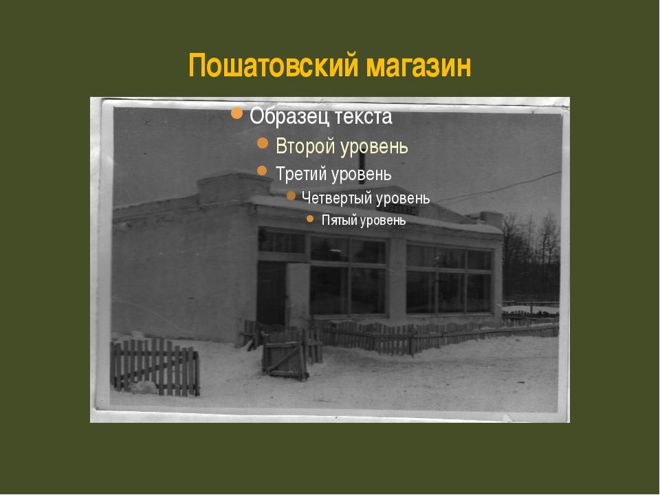 Пошатовский магазин