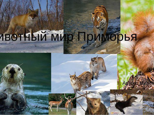 . Автор: Миронова Н.В Животный мир Приморья