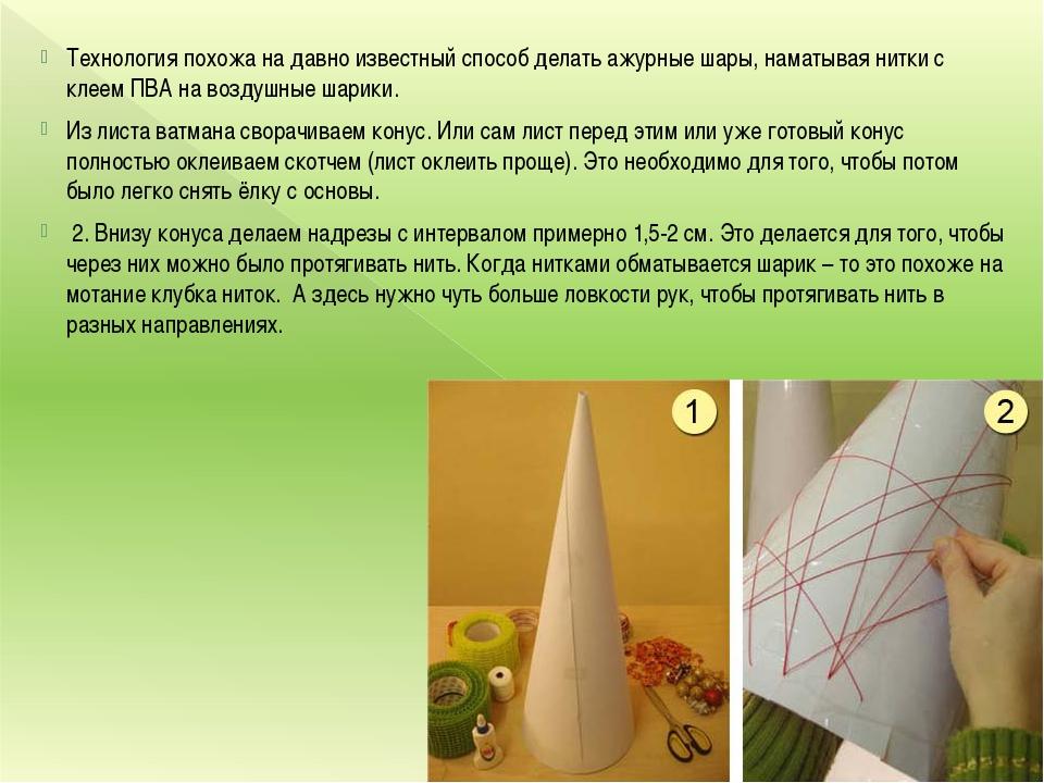 Технология похожа на давно известный способ делать ажурные шары, наматывая ни...