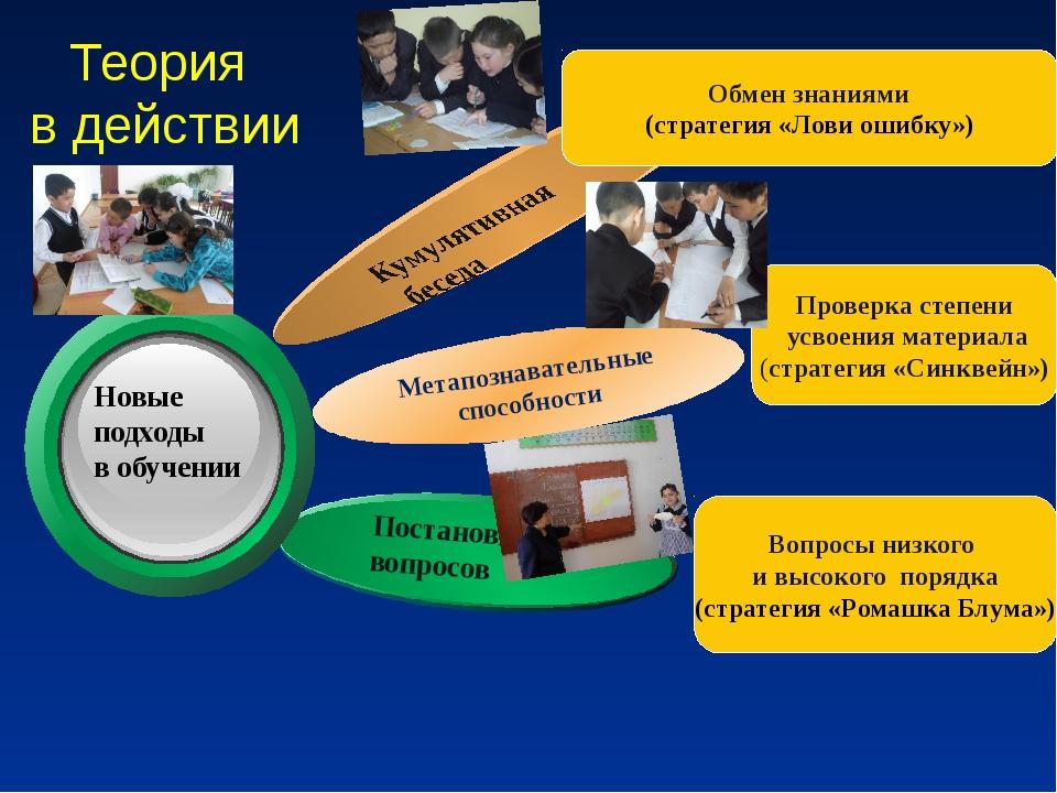 Теория в действии Метапознавательные способности Обмен знаниями (стратегия «Л...