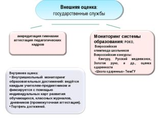 Внешняя оценка: государственные службы