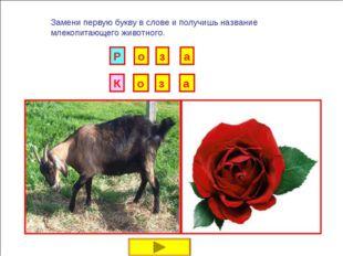 И Б Замени первую букву в слове и получишь название млекопитающего животного.
