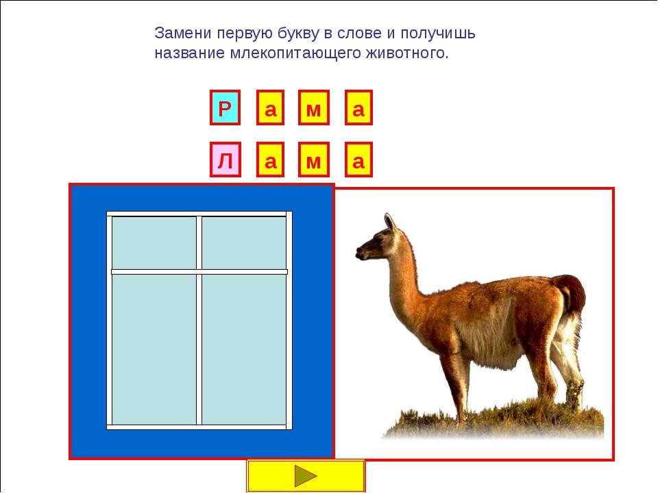 Л И Б Замени первую букву в слове и получишь название млекопитающего животног...