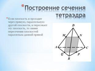 Если плоскость и проходит через прямую, параллельную другой плоскости, и пере