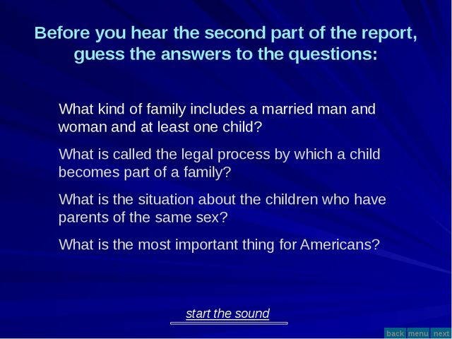 What is the most important thing for Americans? discipline love respect Now,...