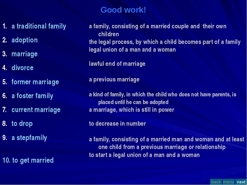 Good work! a traditional family adoption marriage divorce former marriage a f...