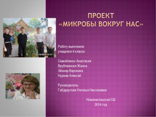 Работу выполнили учащиеся 4 класса: Самойленко Анастасия Врублевская Жанна Эй