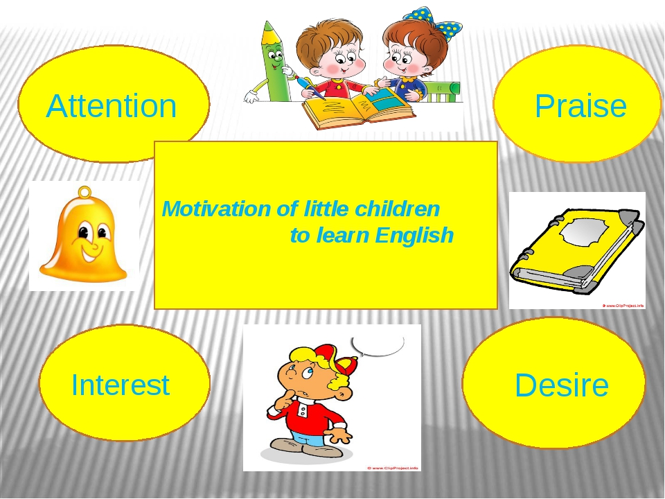 Motivation of little children to learn English   Attention Interest Praise D...