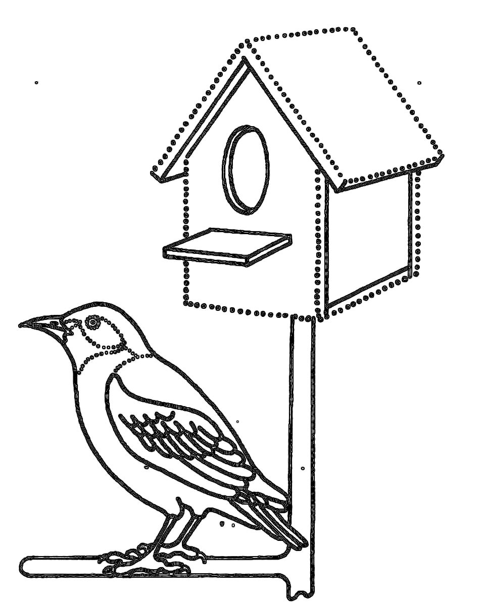 Картинки скворечников для птиц раскраска