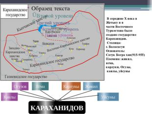 Огузов Ягма Карлукы Жикил КАРАХАНИДОВ Уйсуны Канлы В середине X века в Жетысу