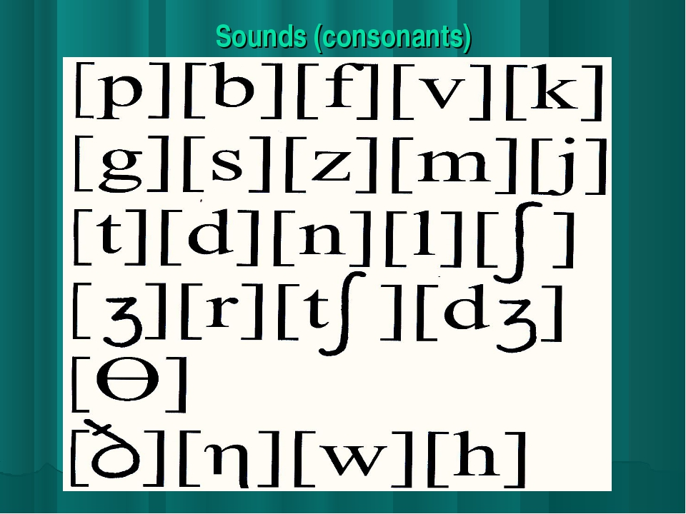 Sounds (consonants)