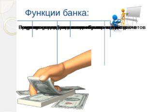 Функции банка:
