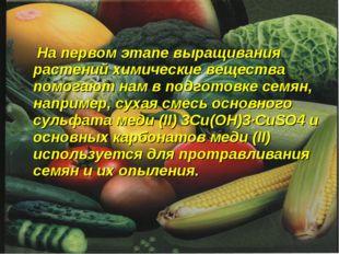 На первом этапе выращивания растений химические вещества помогают нам в подг